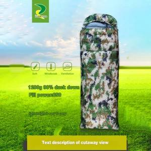 Hot sale excellent water repellent windproof mummy sleeping bags for army hunters