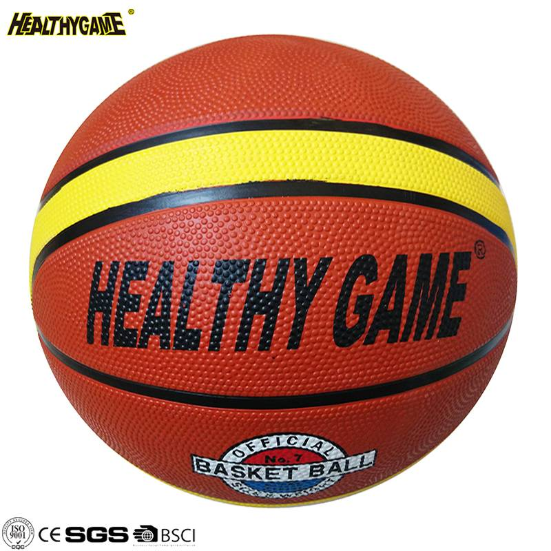 Professional Wholesale Logo Custom Personal Logo Rubber Basketball Ball