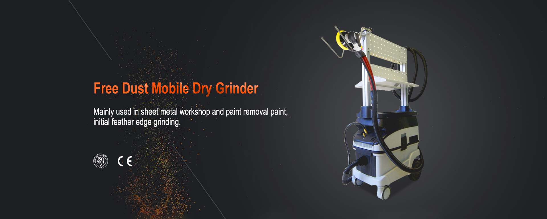 XYS Free Dust Mobile Dry Grinder