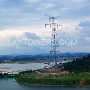 China High Quality Construction Pole Suppliers –  double loop across river tower – X.Y. Tower