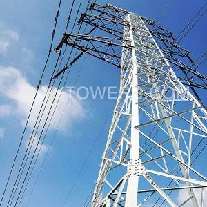 132kV double circuit straight tower