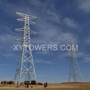 China Cheap 500kv Transmission Line Factory –  330kV double loop transmission tower – X.Y. Tower