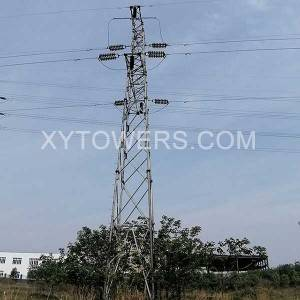 China High Quality Galvanized Pole Suppliers Factory –  110kVstrain  tower – X.Y. Tower
