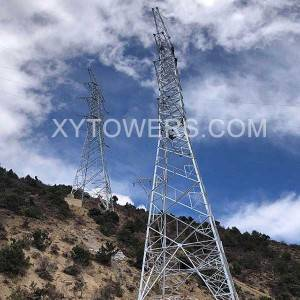 China Cheap Antenna Pole Manufacturers –  132kV double circuit strain tower – X.Y. Tower