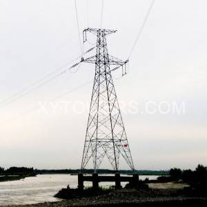 132kV single circuit angle tower