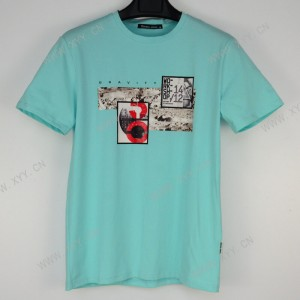Men's Summer Print Loose Short Sleeve T-Shirt Pure Cotton  8807