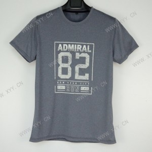 Men's Letter Print Round Neck Casual Short Sleeve T-shirt  SH-696A