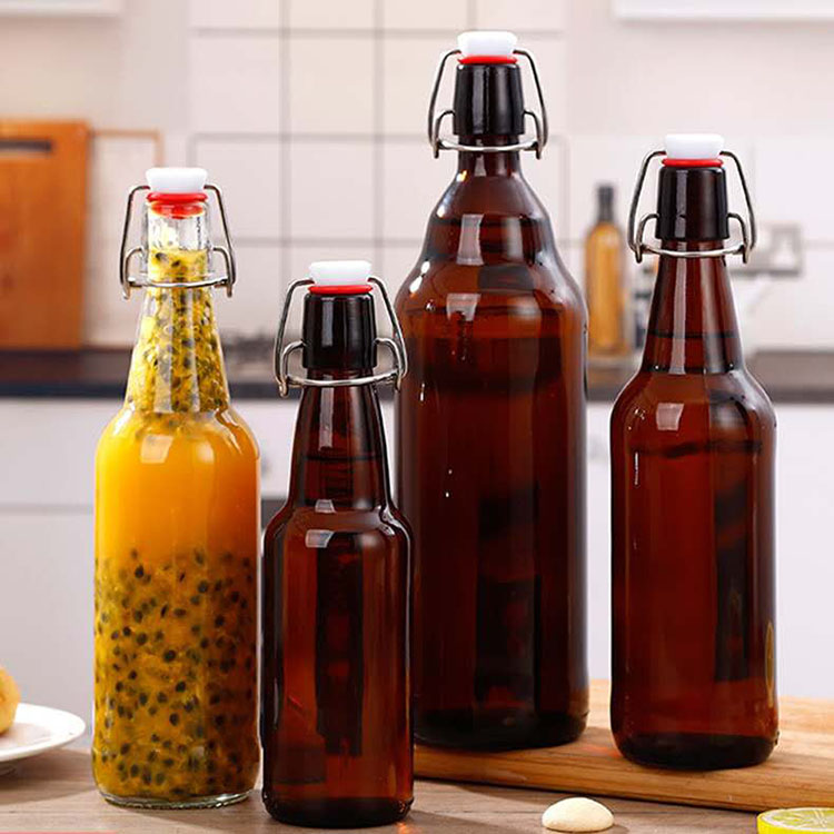 Cheap Water Glass Cup Factories - wholesale empty Amber beer Bottle with swing top – Chuancheng