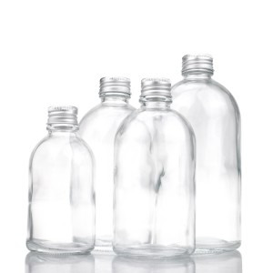 150ml 270ml 350ml 500ml round clear fruit drink cold juice glass bottles with cap