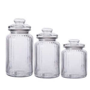 vertical grain Kitchen Coarse Cereals storage jar Sealed tank Pickle jar with lid