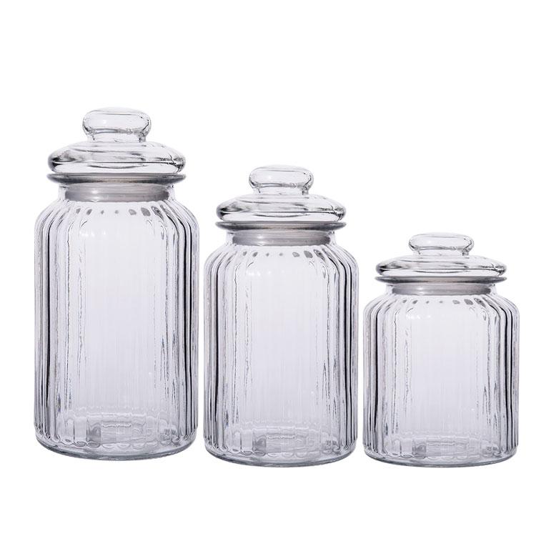 vertical grain Kitchen Coarse Cereals storage jar Sealed tank Pickle jar with lid Featured Image