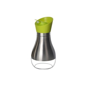 Stainless steel oil bottle glass vinegar bottle kitchen household sealed rotating cover leak-proof oil bottle