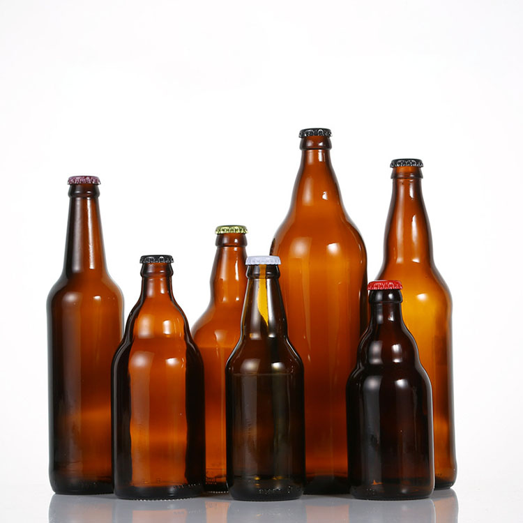 Cheap Swing Top Beer Bottle Manufacturers - wholesale amber empty glass beer bottles with metal crown cap – Chuancheng Featured Image