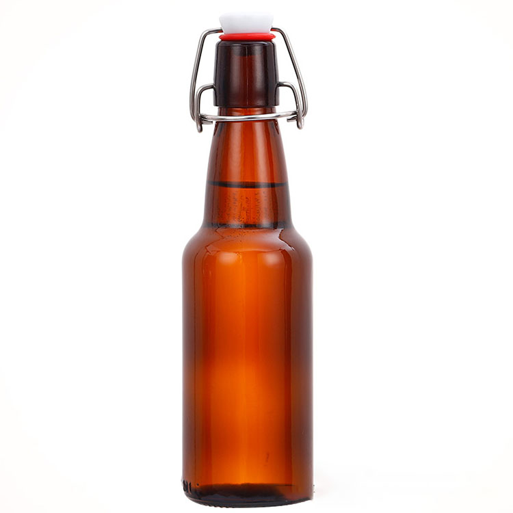 Cheap Water Glass Cup Factories - wholesale empty Amber beer Bottle with swing top – Chuancheng Featured Image