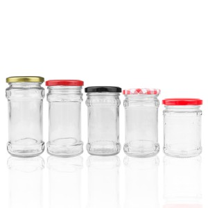 Wholesale empty glass pickles chili sauce beef bottle sealed storage jar with lid