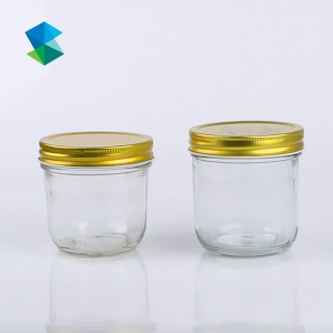 Hot sale  kitchen jar set storage food storage bottles jars with iron lid