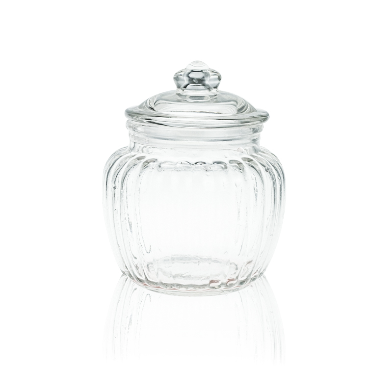kitchen Transparent Glass pickle pot vertical seal tank Sealed Jars Lid storage jar Featured Image