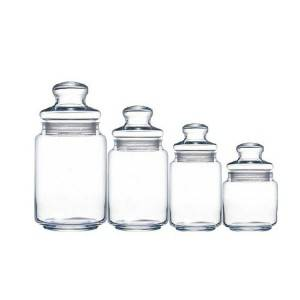 China new design glass sealed container storage jars with glass lids suppliers