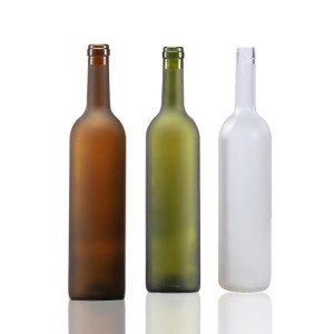 Frost 750ml Bordeaux Wine Bottles with cork From China Supplier