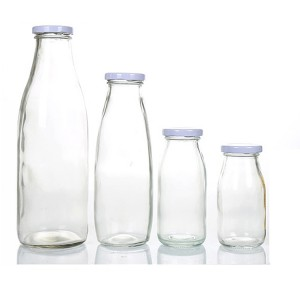 wholesale milk bar special fresh milk glass bottle yogurt glass with screw cap
