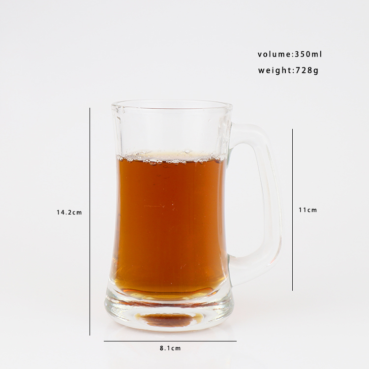 China Airtight Glass Container Factory -  Jumbo Thick Glass Sports Beer Mugs – Chuancheng