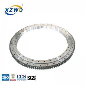 Factory wholesale Trailer Slewing Turntable - XZWD solar power generation single row ball slewing bearing – Wanda