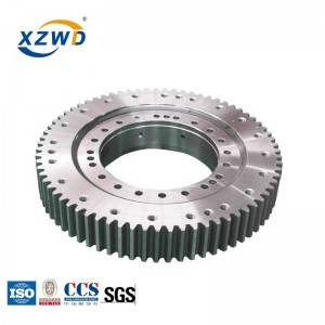 XZWD single row ball geared tapered slewing ring bearings