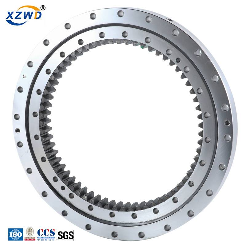 Cheap price Excavator Slewing Ring - Internal tooth slewing bearing single row ball 4-point contact 013 series – Wanda