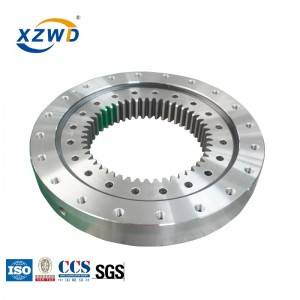 One of Hottest for China Slewing Bearing Manufacturer - High quality 4 point contact ball turntable bearing for wind turbines – Wanda