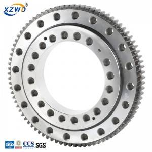 Short Lead Time for Large Diameter Slewing Ring - External gear single row ball four point contact 011 series slewing bearing – Wanda