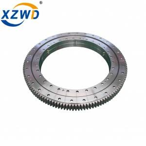 Hot New Products Crossed Roller Slewing Bearing - Wanda Double Row Ball Slewing Ring Bearing External Toothed Swing Bearing Geared Turntable Bearing – Wanda