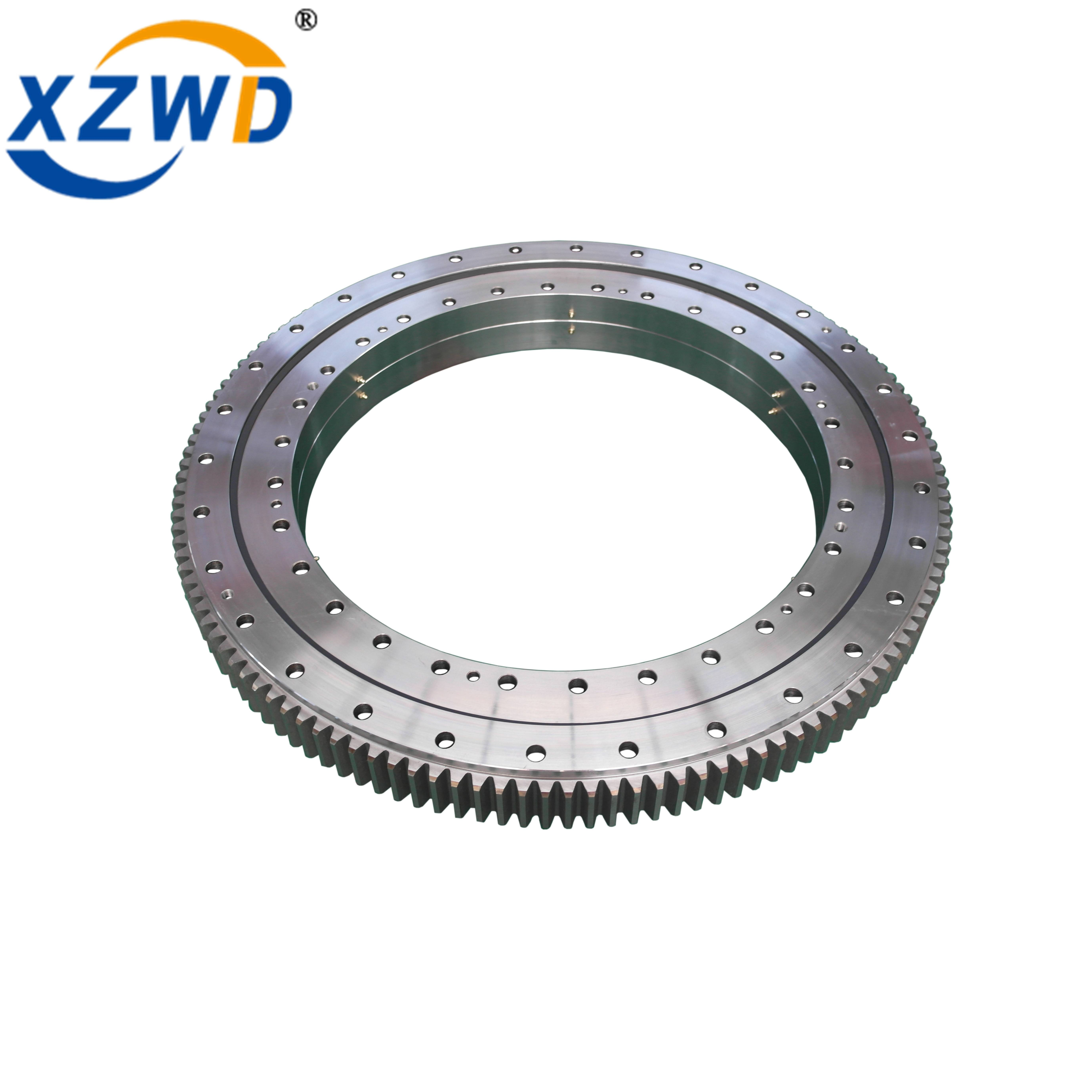 Wanda Double Row Ball Slewing Ring Bearing External Toothed Swing Bearing Geared Turntable Bearing Featured Image