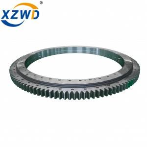 Wanda Double Row Ball Slewing Ring Bearing External Toothed Swing Bearing Geared Turntable Bearing
