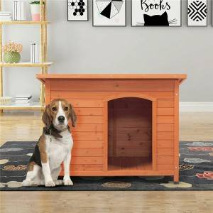 Cruz Wood Insulated Dog House Pet Furniture
