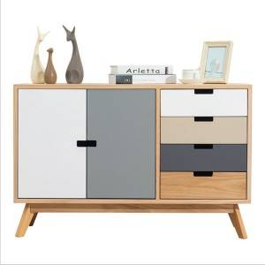 Simple Nordic solid wood simple living room side cabinet 0503