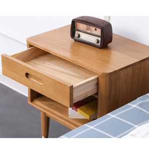 Simple single drawer bedroom nightstand side cabinet#0122