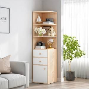 Corner cabinet corner shelf simple multifunctional bedroom corner cabinet living room storage cabinet triangle corner cabinet-0113