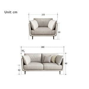 Small apartment Nordic Italian minimalist apartment living room sofa 0427