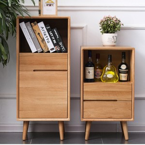 2020 High quality Storage Cabinets - Simple Solid Wood High and Low Side Cabinet Storage Cabinet#0024 – Amazons Furniture