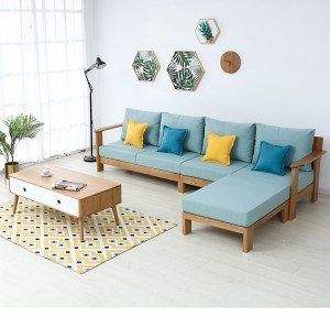 New Arrival China Sofa Chair - Nordic Simple Fabric Solid Wood Sofa Combination#0025 – Amazons Furniture