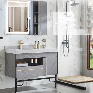 Trending Products  Console Table Tv Stand - Nordic Modern Bathroom Cabinet Combination Marble Light Luxury Smart Mirror Cabinet Bathroom Vanity Sink Washbasin Cabinet#0150 – Amazons Furniture