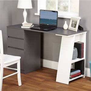 Simple Living Como Modern Writing Desk with Storage 0362