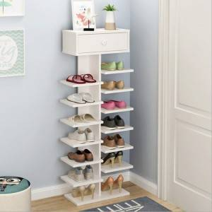 Simple modern simple shoe rack multi-layer household storage cabinet dormitory economical shoe cabinet shoe rack door shoe rack-0104