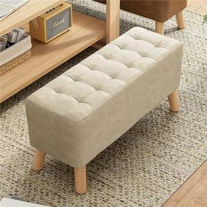 Stool Household Small Bench Lazy Net Red Sofa Wood Stool Square Stool Small Chair Fabric Footstool Living Room Sitting Pier