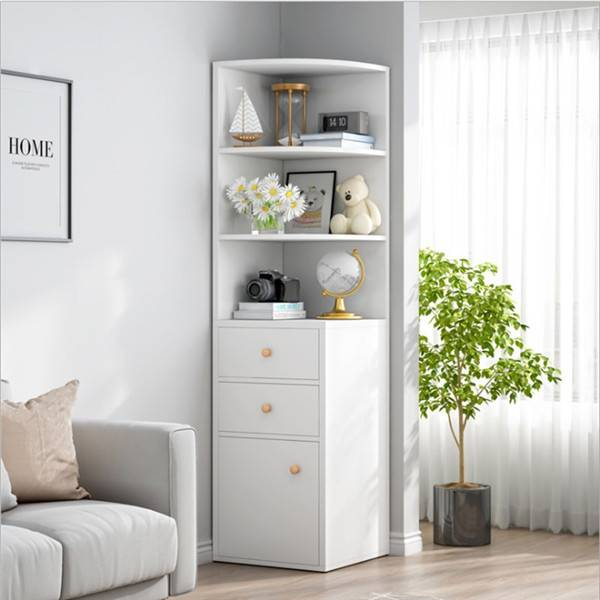 Corner cabinet corner shelf simple multifunctional bedroom corner cabinet living room storage cabinet triangle corner cabinet-0113 Featured Image