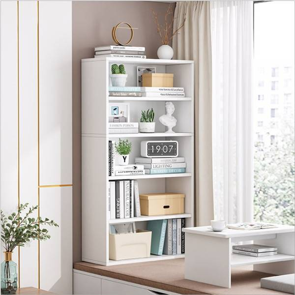 Bookshelf Simple Floor-to-Ceiling Bay Window Small Bookcase Storage Locker Combination Balcony Simple Household Multi-Layer Shelf Featured Image