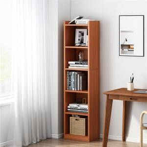 Bookcase Corner Cabinet Narrow Version Simple Floor Economical Storage Cabinet Storage Space Saving Small Corner Storage Bookcase