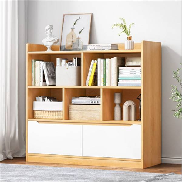Simple bookshelf floor simple modern home multi-function living room multi-layer shelf bedroom student storage bookcase-0117 Featured Image