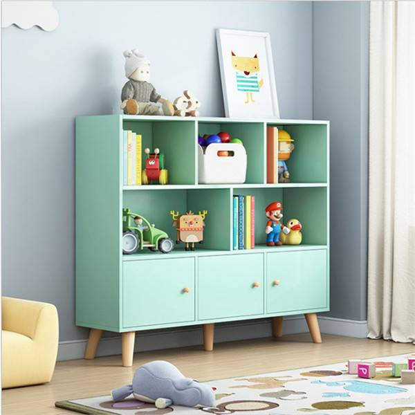 Bookcase multifunctional children's bookshelf bookcase rack simple floor multi-layer home student picture book rack storage rack-0118 Featured Image