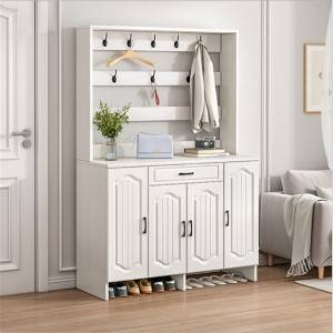 Shoe cabinet household entrance door can hang clothes modern, simple and economical door-to-door storage porch hall cabinet multi-layer shoe rack